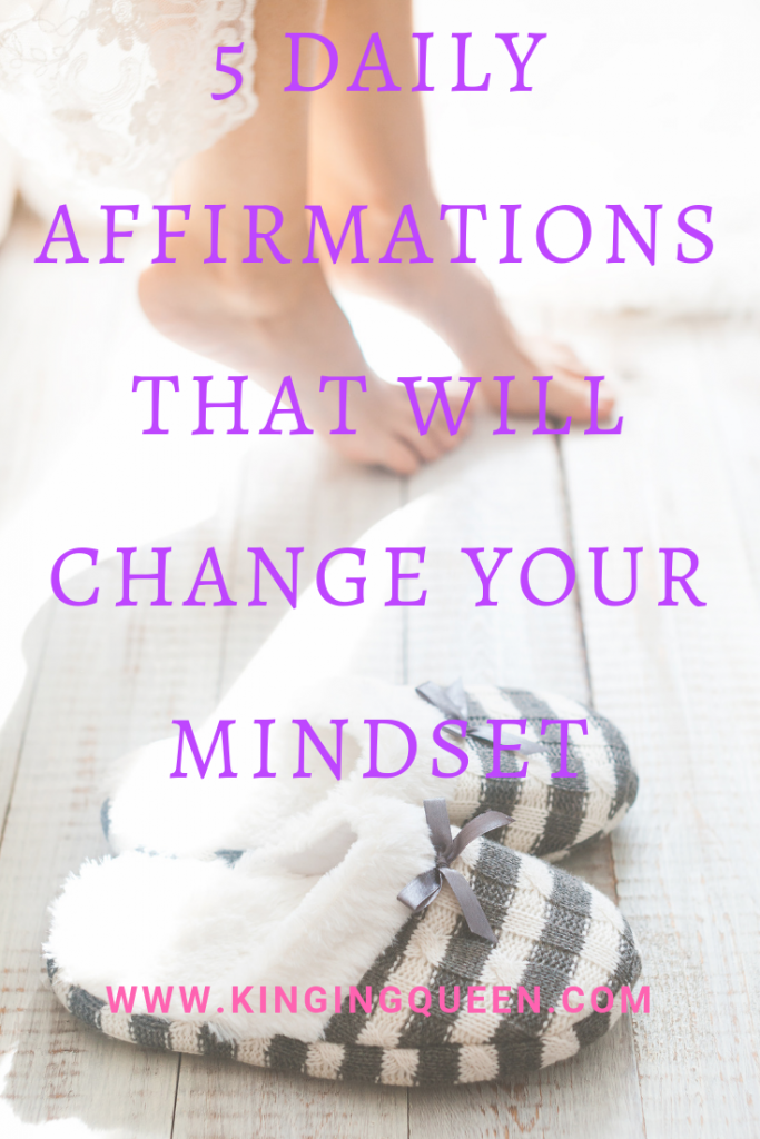 photo showing 5 daily affirmations that will change your mindset