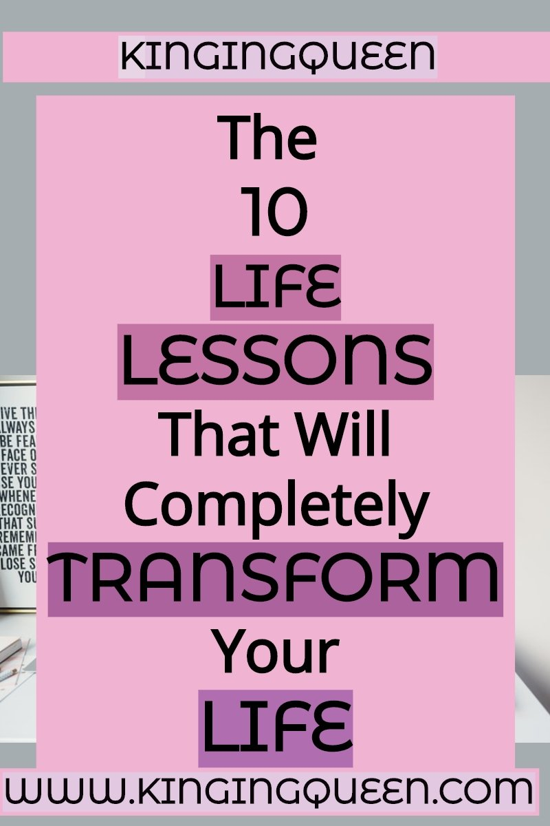Graphic showing 10 Life lessons