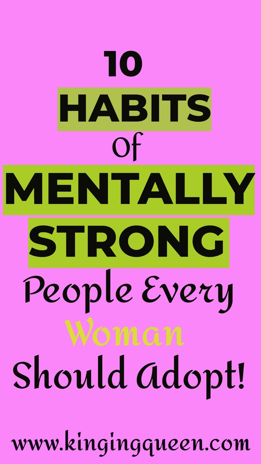habits of mentally strong people