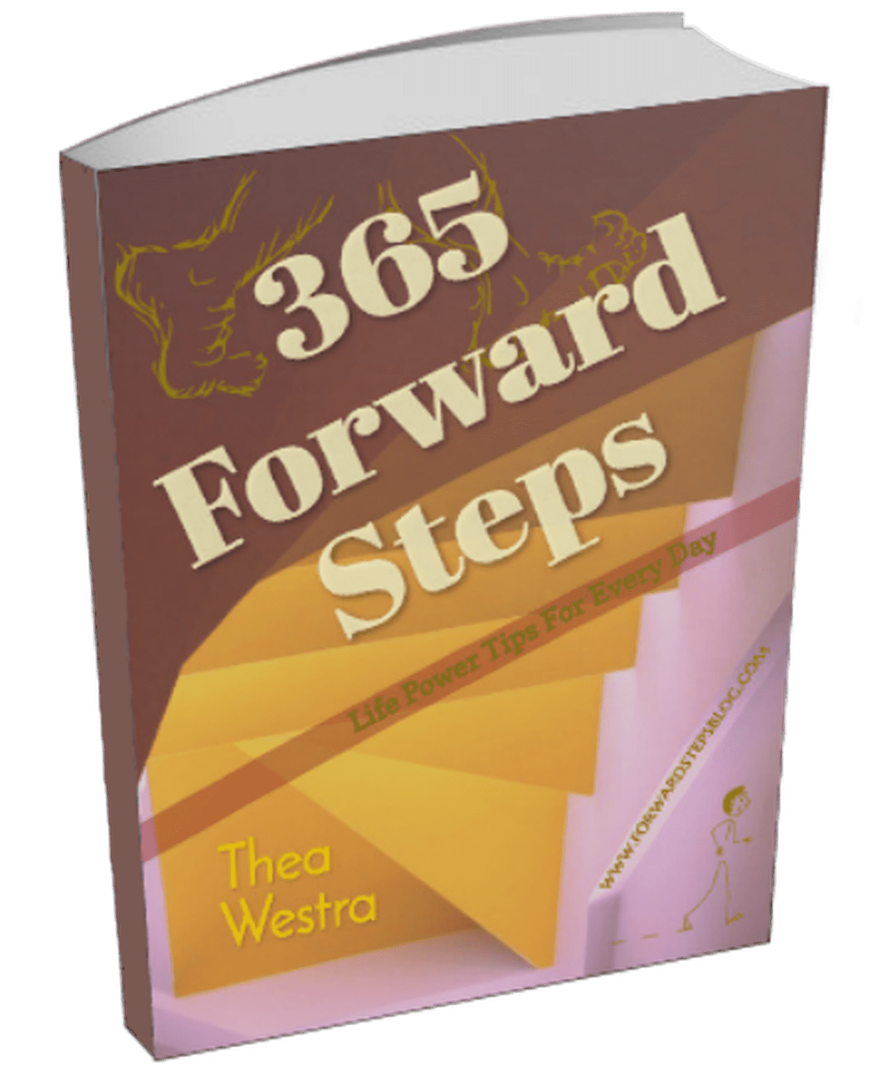 Self improvement book with title 365 Steps Forward