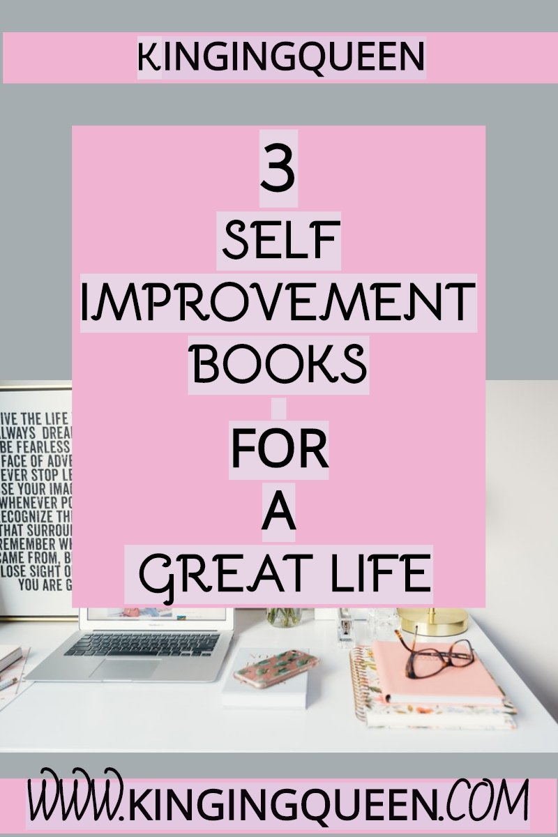 Graphic with words 3 self improvement books for a great year
