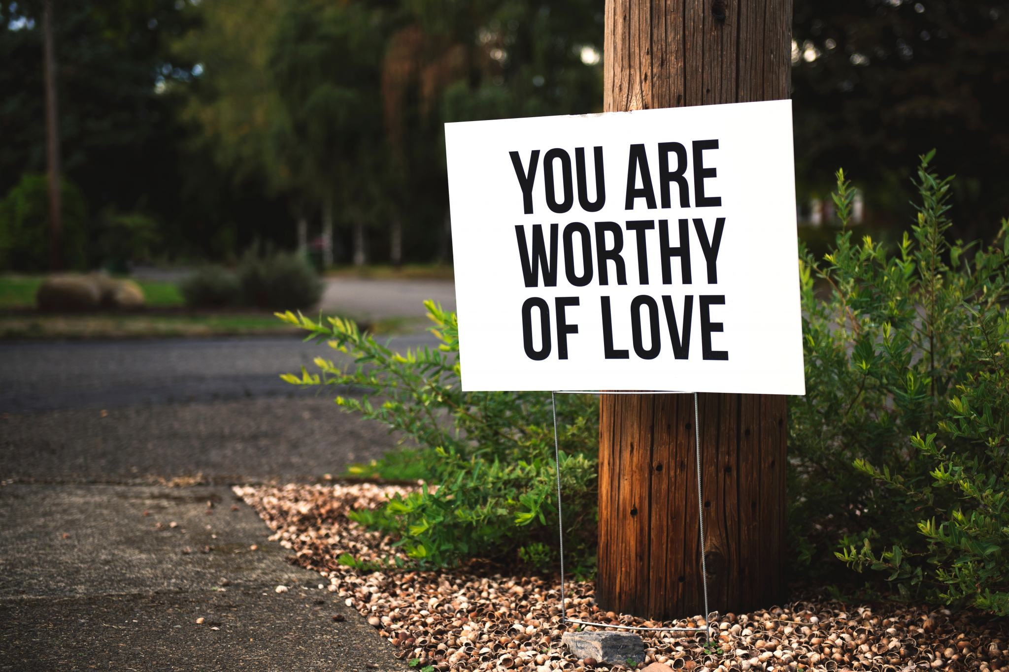 You are worthy of Love affirmation