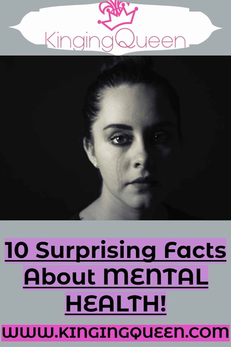Graphic of a woman showing 10 facts about Mental Health you should know