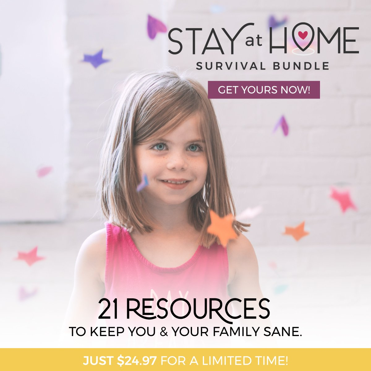 Stay at home survival bundle helpful resources