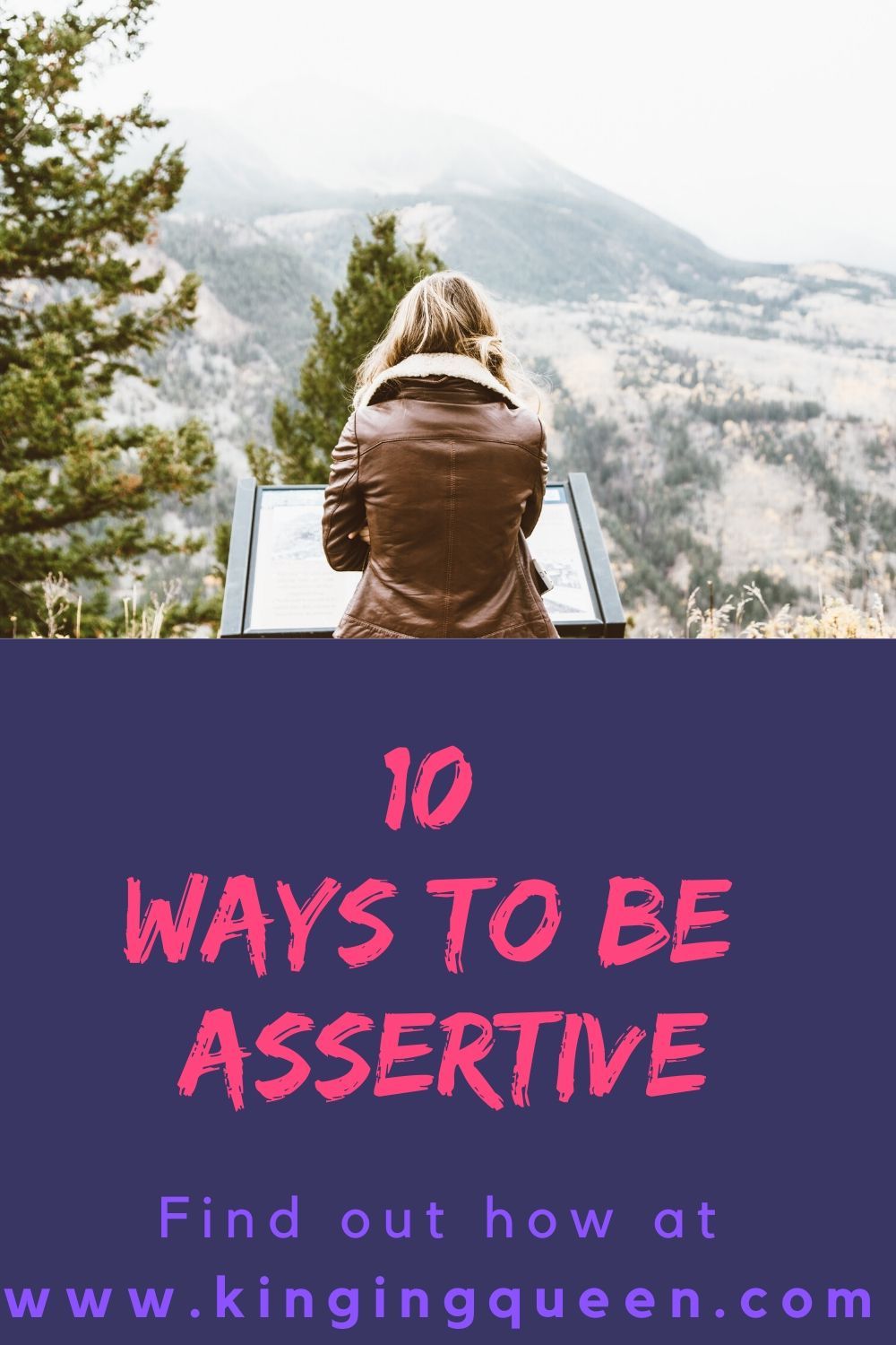 Graphics showing 10 tips to being assertive