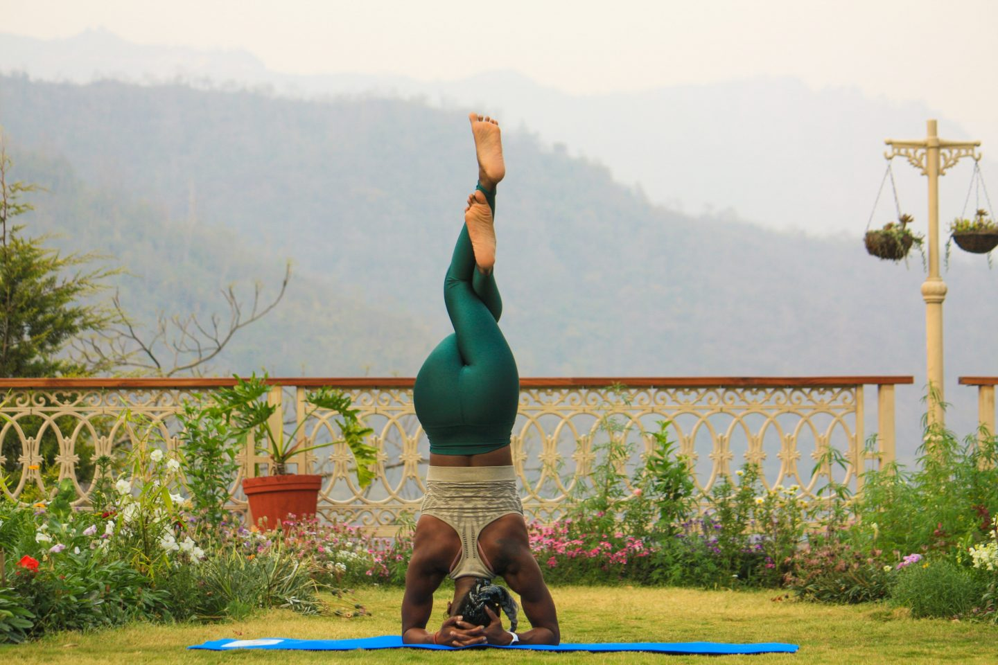 Outdoor yoga for personal growth
