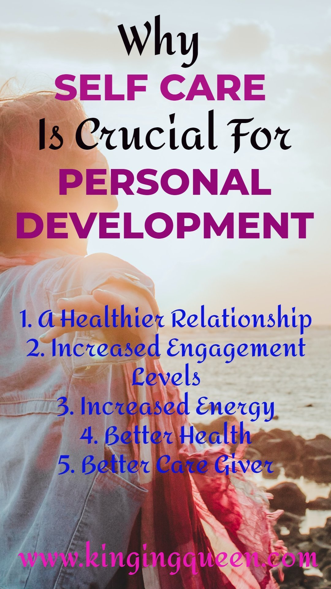 Graphic Showing why self care is crucial for personal development