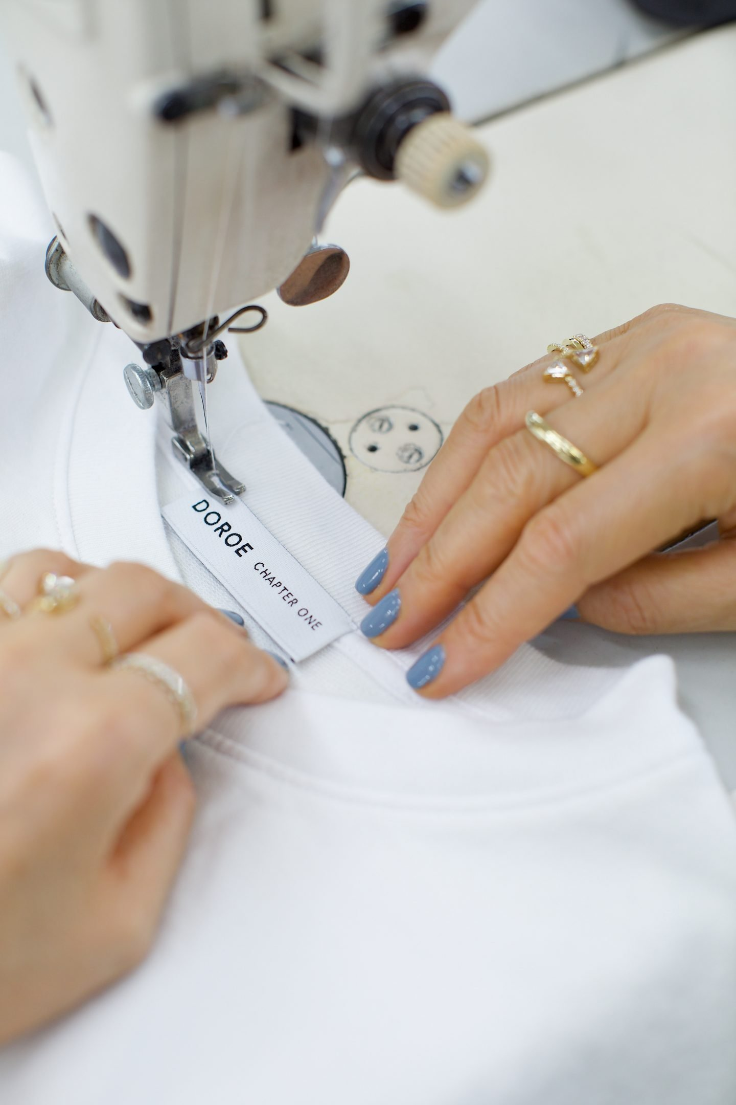 Picture of a woman sewing