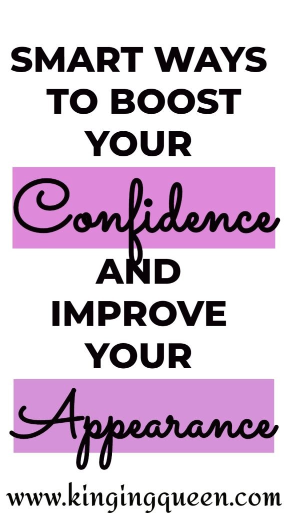 Graphic showing smart ways to boost your confidence and improve your appearance