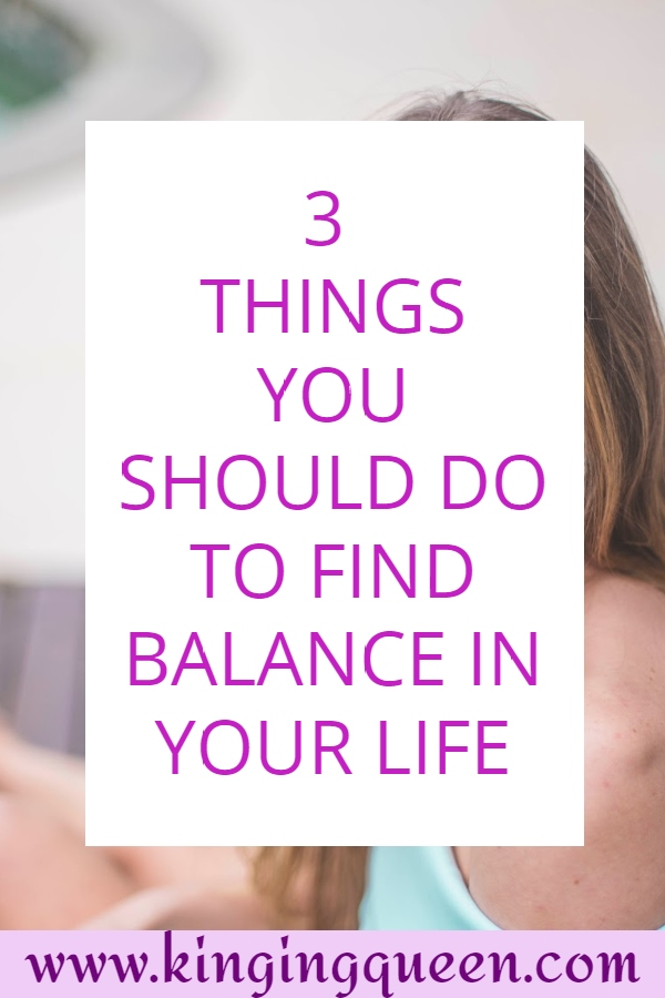 Graphic showing how to find balance in your life